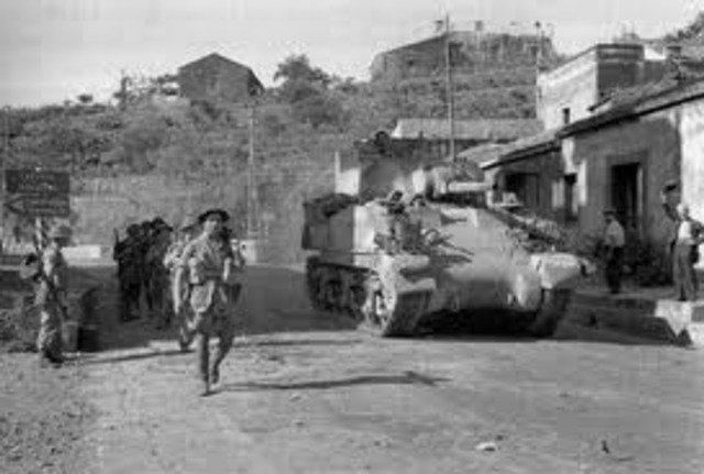 US and British troops land on Sicily. By mid-August, the Allies control Sicily.