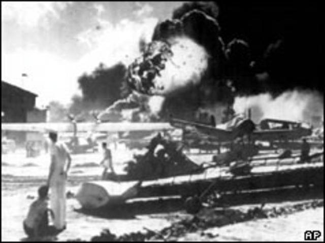 : Japan bombs Pearl Harbor. The U.S. declares war on Japan.
