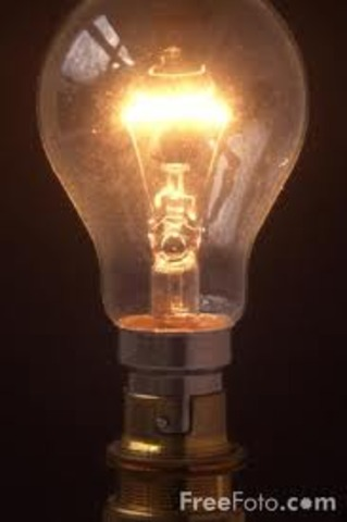 World event: Thomas A. Edison invents lightbulb