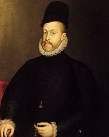 King Phillip II of Spain assembles the Spanish Armada 1588