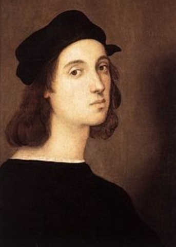 Rapheal paints the tranfiguartion