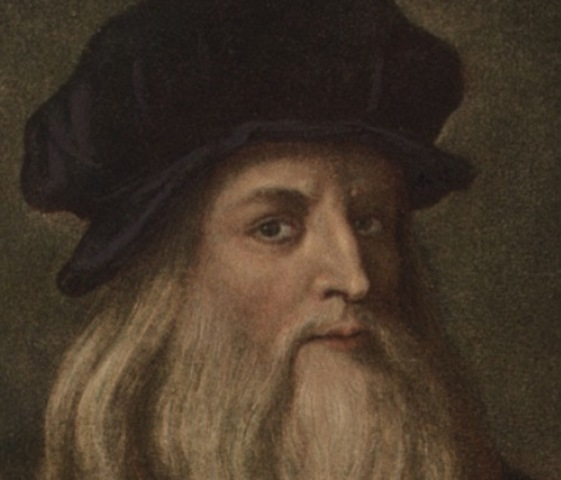 Leonardo da Vinci paints the Mona Lisa