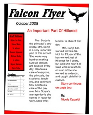 Falcons Flyer!