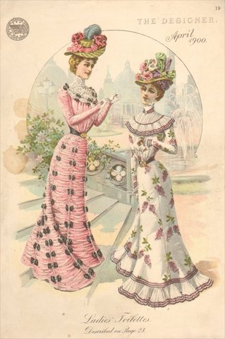 Women S Fashion In The  S Drawings On Patterns