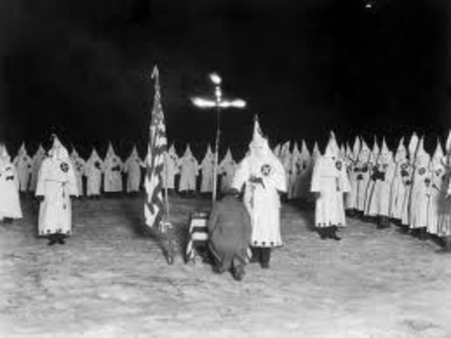 End of the 1st Klu Klux Klan