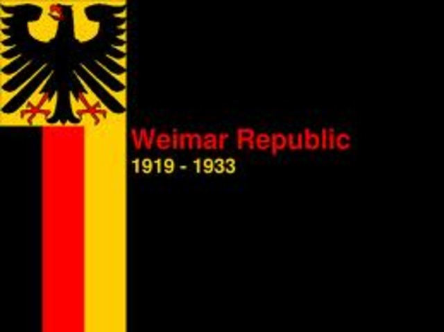 weimer republic With the abdication of kaiser wilhelm a new government was formed in the town of weimar (as berlin was too unstable) known as the weimar republic.