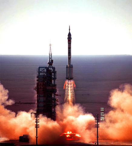 China launches its first manned space mission