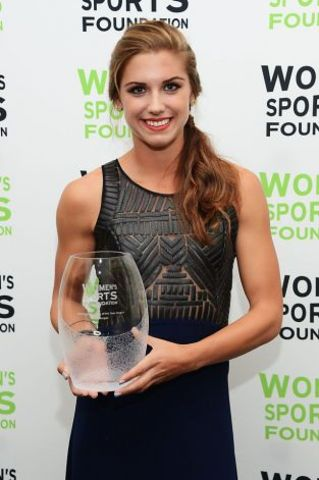 Alex Won the American Sportswoman of the Year Award