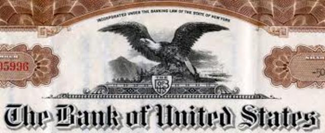 Bank of the United States Collapses