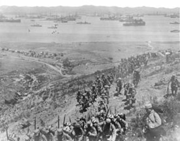 a history of the landing at gallipoli by anzacs in april 1915 Battle at gallipoli, 1915 in april, a landing on the gallipoli penninsula attempted to secure the shores battle at gallipoli, 1915, eyewitness to history.