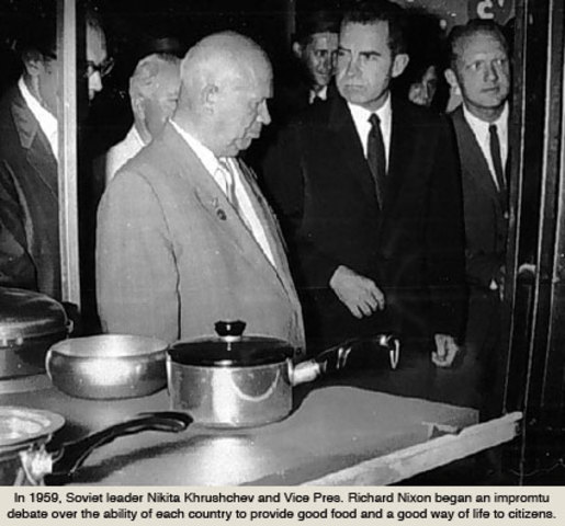 Kitchen Debate Between Nixon and Khrushchev