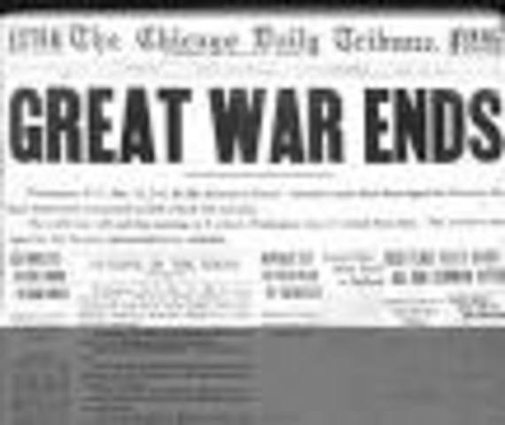 World war 1 ends