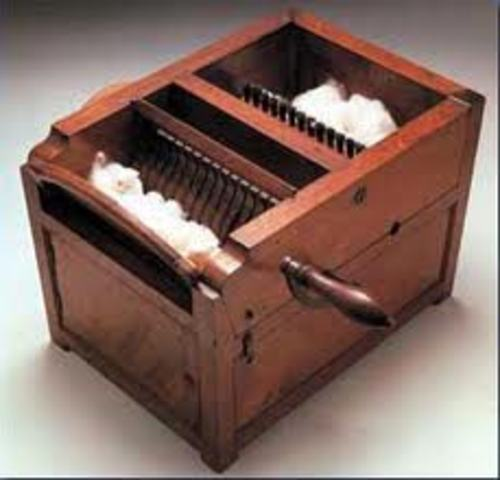 Eli Whitney creates the cotton gin.