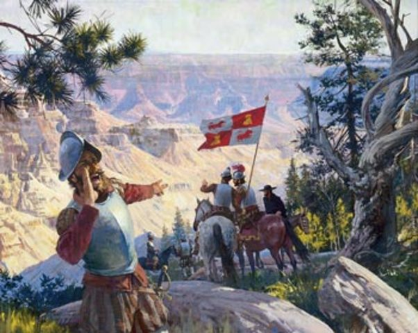 Francisco Vasquez de Coronado discovers the Grand Canyon