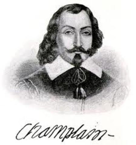 Samuel de Champlain brings the fur trade to New France
