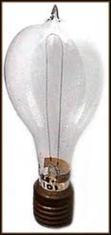 Thomas Edison invents the first incandescent light bulb.