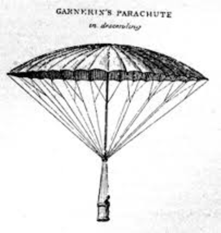 First recorded disign of the parachute