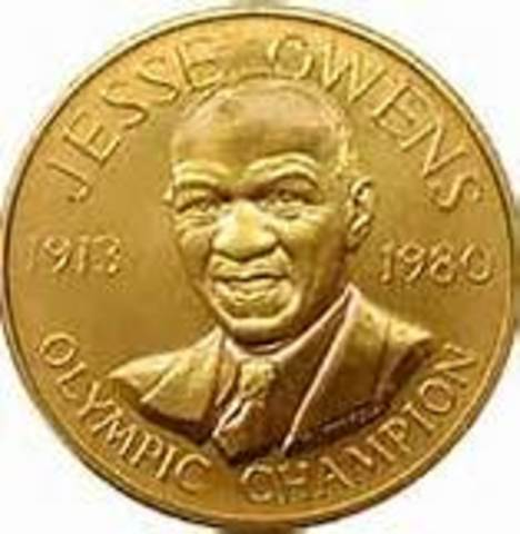 in the 1950's Jesse Owens accepted all of his medals that he won fair and sqaure.