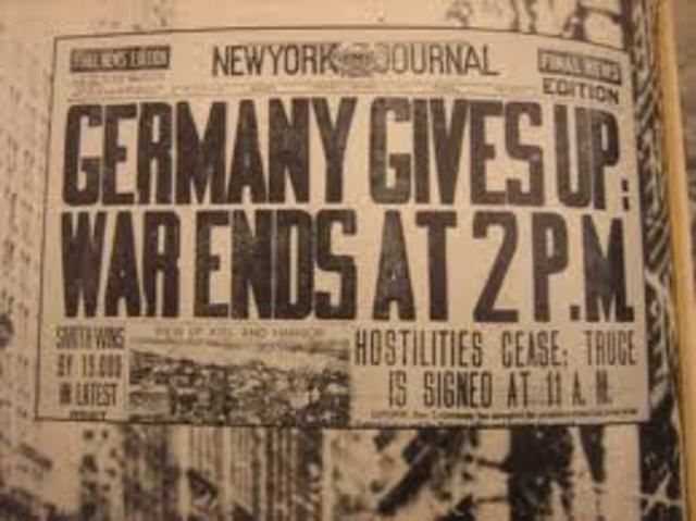 End of WW1