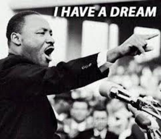Martin Luther King gives