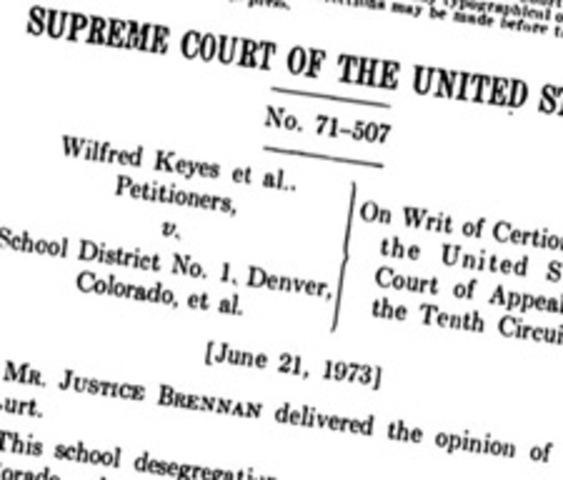 Keyes v. School District No. 1, Denver, Colorado