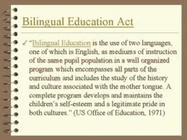 Bilingual Education Act