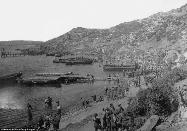 Arrival at Gallipoli