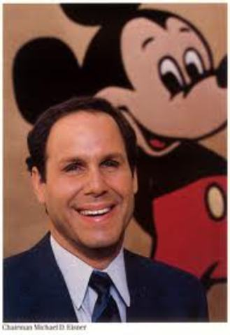 Disney CEO, Michael Eisner resigns