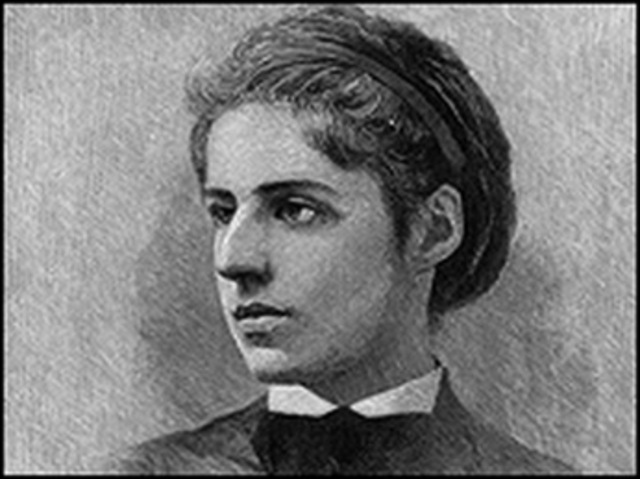 "Emma Lazarus composes ""The New Colossus"""