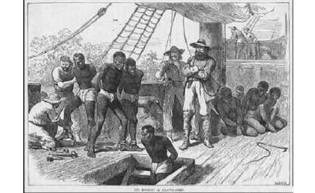 The African slave-trade began
