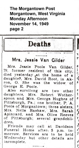 Death of Jessica Pool VanGilder in Akron, Ohio