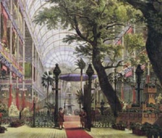 The Great Exhibition at the Crystal Palace in London.