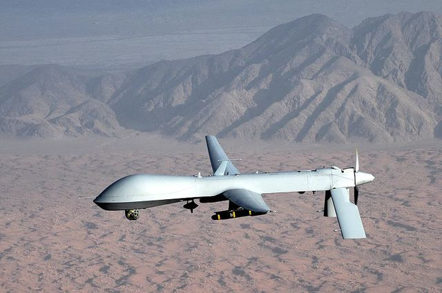 first used an unmanned Predator drone