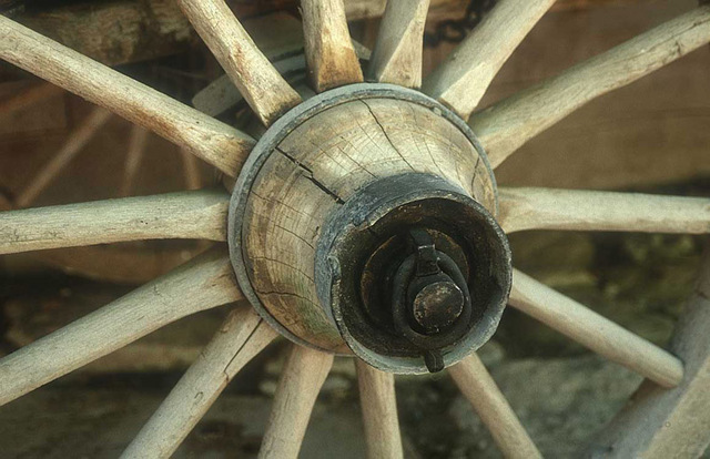 Wooden Spoked Wheel