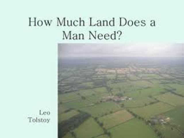 how much land does one man need