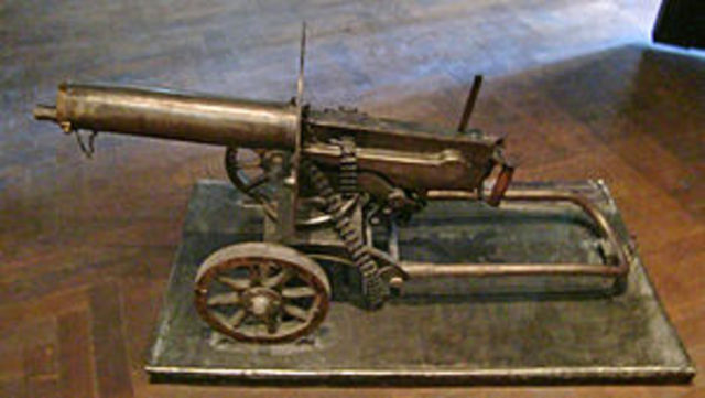 Harim Maxim Invents the machine gun