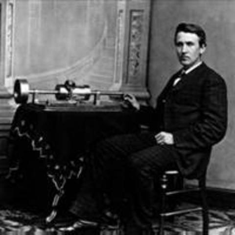 Thomas Edison invents the cylinder phonograph or tin foil phonograph