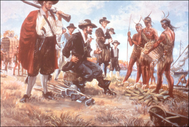 the early relations between the american indians and the first european settlers Early settlers and native americans the entire clash of two different cultures dates back all the way into the beginning of the early european arrival.