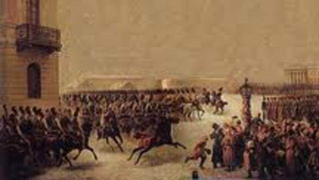 russia decembrist revolt Napoleon made a major mistake when he declared war on russia over a   therefore, the decembrist revolt of 1825 has been the output of a.