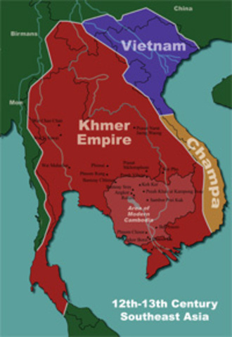 First capital established in the Khmer Empire