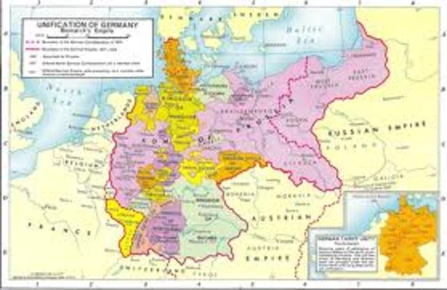 The Unification Of Germany Timeline Timetoast Timelines - Zollverein germany map