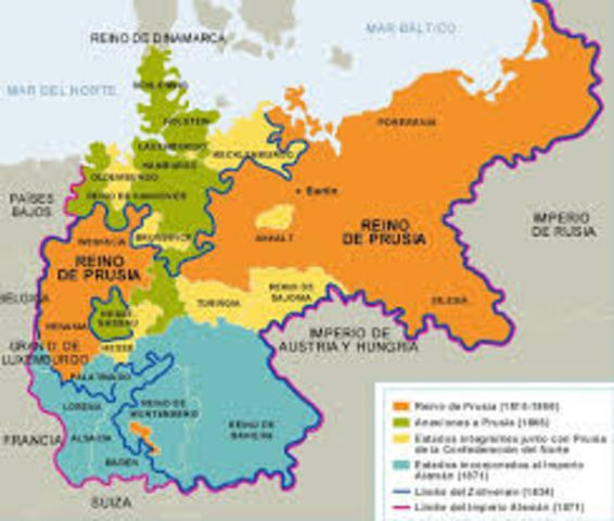 The Road That Led To The Unification Of Germany Timeline - Germany unification map
