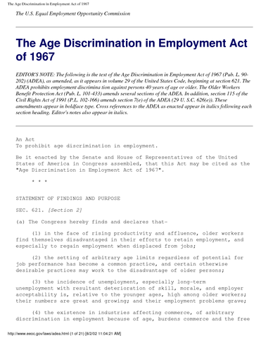 age and sex discrimination essay Overt discrimination is when someone is openly undermining a section of society based on gender, age, sex, race, skin colour, religion etc for example if someone in a health and social care setting wasn't giving medication to a patient based on their skin colour, however the other patient received medication this.