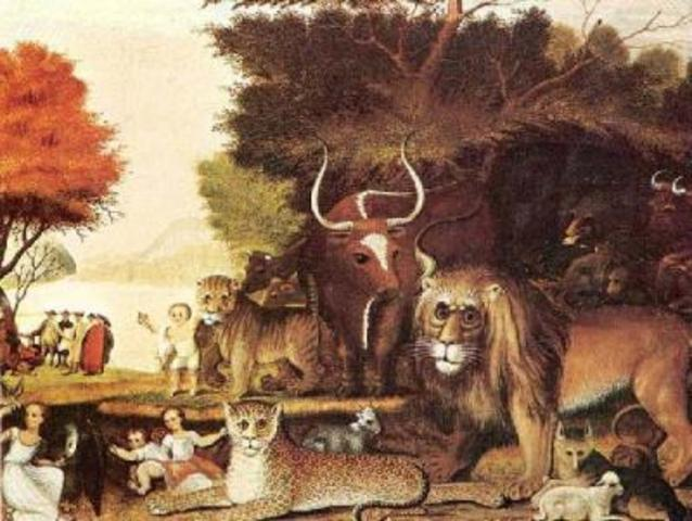 "Edward Hick's ""A Peaceable Kingdom"""