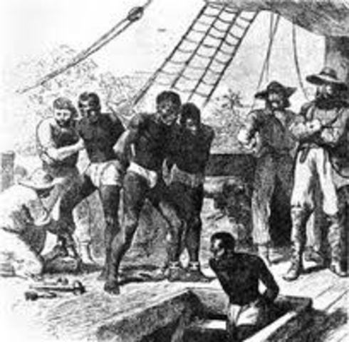 First enslaved africans brought to north america