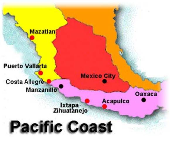 Ended up in mexico and the pacific