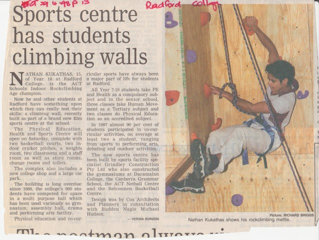 G. Wigg Sports Centre Opened