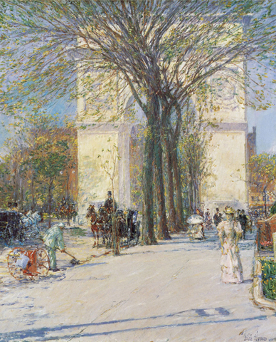 "Childe Hassam's ""Washington Arch, Spring"""