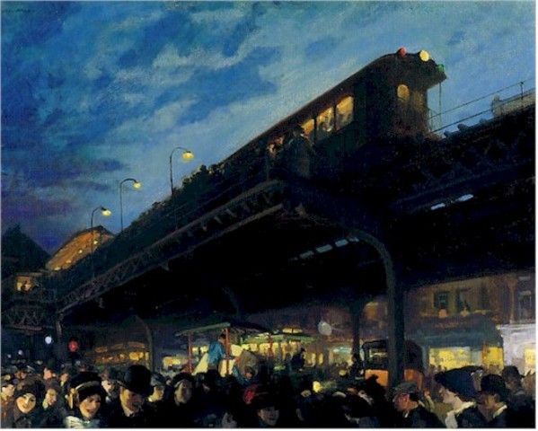 "John Sloan's ""Six O'Clock Winter"""