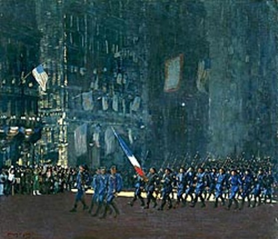 "George Luks' ""Blue Devils On Fifth Avenue"""